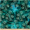 Indian Batik Ocean Grove Palm Trees Green