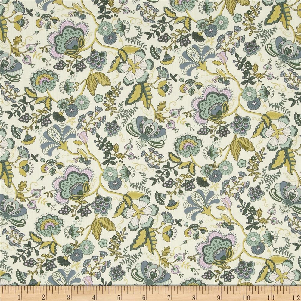 Liberty of London Tana Lawn Mabelle Tan/Green/Lilac