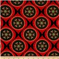 Joyful Metallic Ornamental Medallion Red
