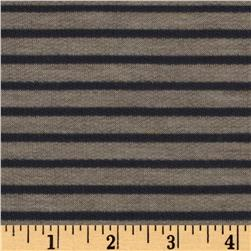 French Terry Stripe Gray/Oatmeal