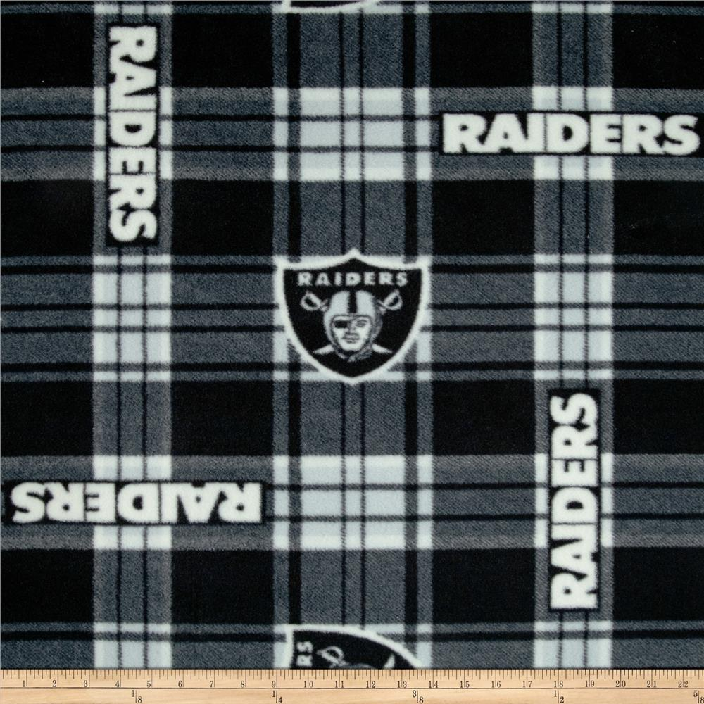 NFL Fleece Oakland Raiders Plaid Black/White