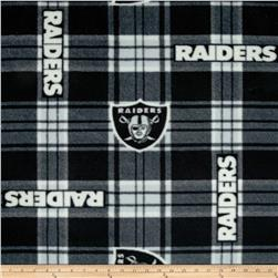 NFL Oakland Raiders Plaid Fleece Black/White