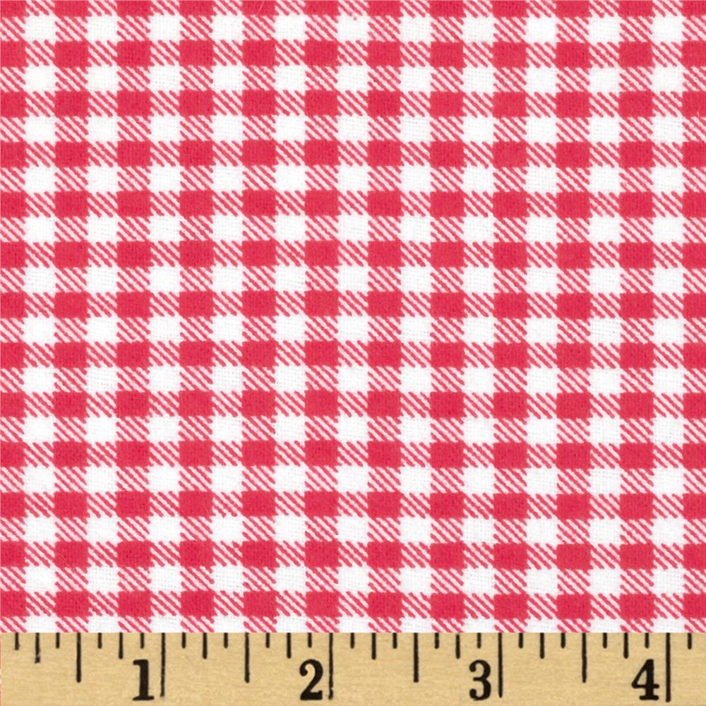 Aunt Polly's Flannel Gingham Light Red/White