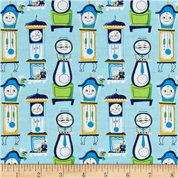 Nursery Rhymes Clocks Light Blue