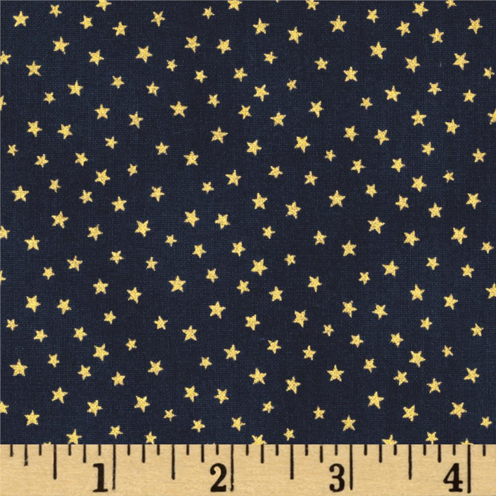 Christmas Metallic Star Navy