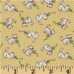 Aunt Grace Miniatures Kittens Yellow