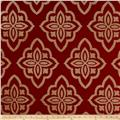 Jaclyn Smith 02601 Medici Chenille Jacquard Scarlet
