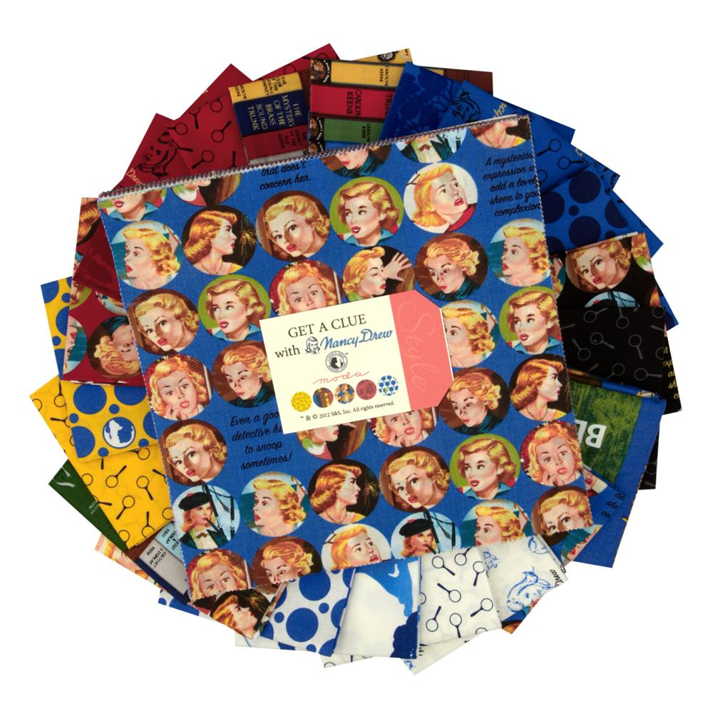 Moda Get A Clue With Nancy Drew 10'' Layer Cake