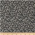Kaufman London Calling Lawn Leaves Black