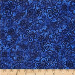 "108"" Wide Quilt Back Isadora Navy"