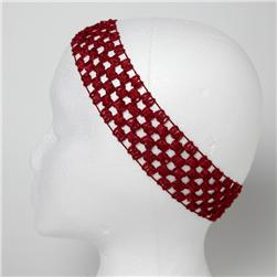 1 3/4'' Stretch Crochet Headband Crimson