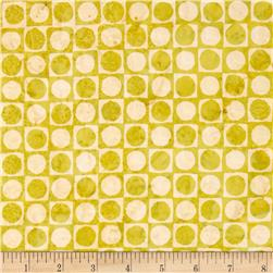 Bali Batiks Handpaint Checkers Key Lime