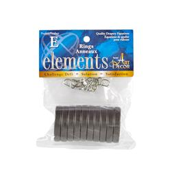 "Elements by Art Decor 1 5/8"" Metro Rings Oil Rubbed Bronze"