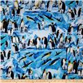 Timeless Treasures Penguins Blue