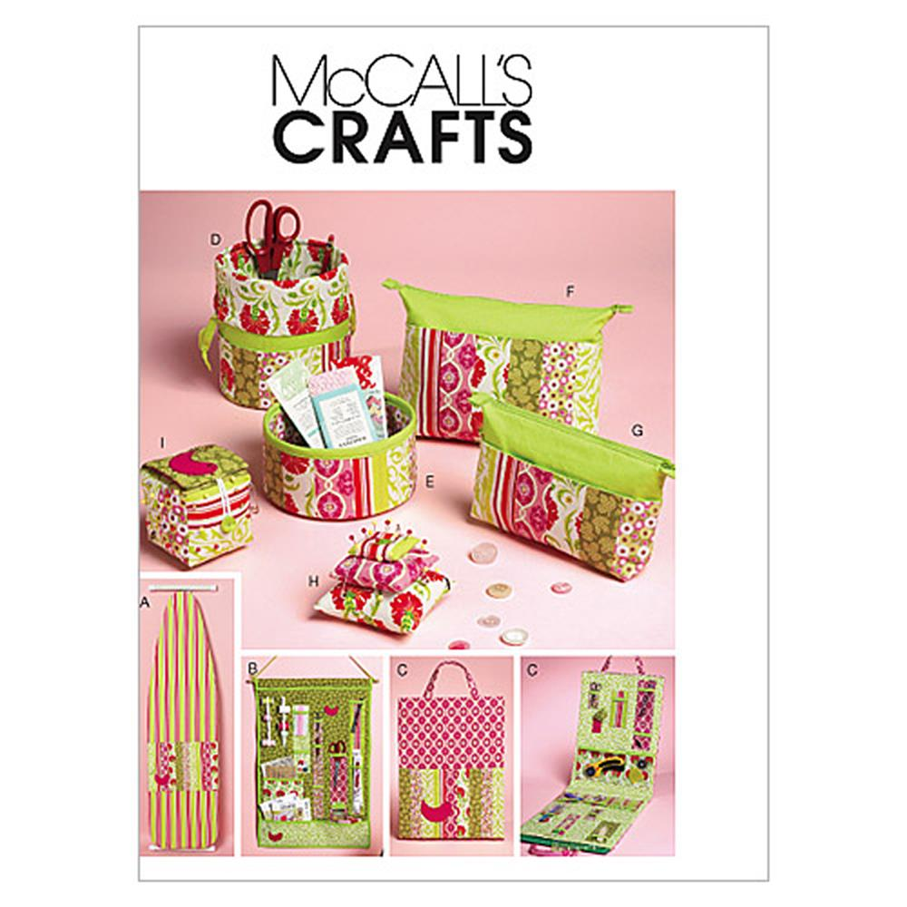 McCall's Ironing Board Cover, Organizers, Zip Case In 2 Sizes and Pin Cushions Pattern M6374 Size OSZ