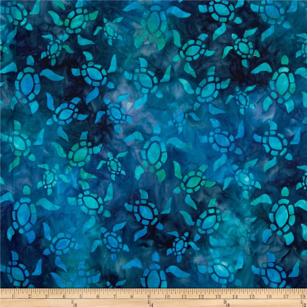 Artisan Batiks: Totally Tropical 2 Turtle Bermuda Blue