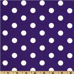 Spot On Polka Dots Purple Fabric