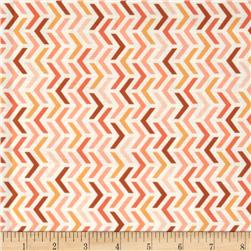 Michael Miller Les Amis Ripples Stripes Peach Fabric