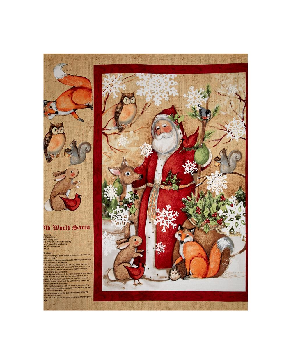 Susan Winget Old World Christmas 36 In. Panel Multi