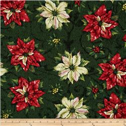 Tis the Season Tossed Poinsettia Green
