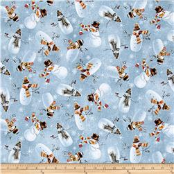 Woodland Friends Snowman Toss Dusty Blue