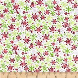 Riley Blake Cotton Jersey Knit Holiday Flakes Multi
