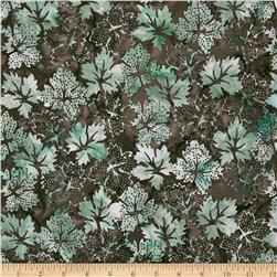 Bali Batiks Dotty Leaves Chestnut