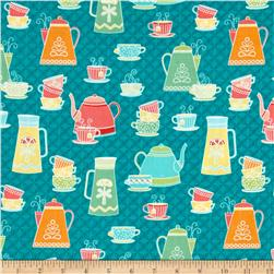Kitchen Love Tea and Coffee Dark Turquoise