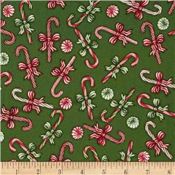 Christmas Elegance Peppermint Candies Green