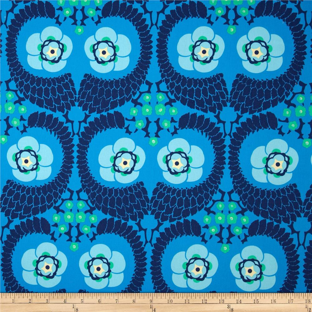 Amy butler violette home decor sateen french twist marine for Home decor fabric