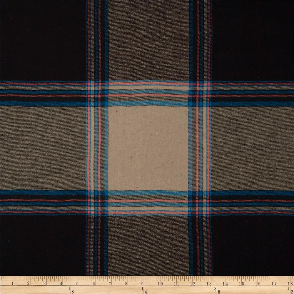Yarn Dyed Flannel Plaid Tan/Blue/Pink