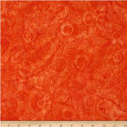 Elementals Batiks Sunburst Orange