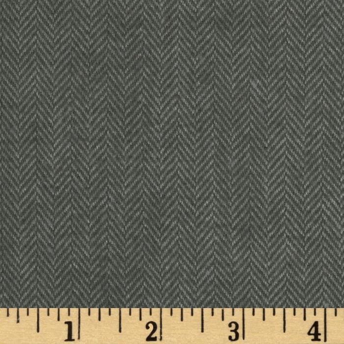 Primo Plaids Flannel Yarn Dyed Herringbone Small Grey