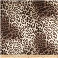 Stretch Cotton Sateen Leopard Brown/White