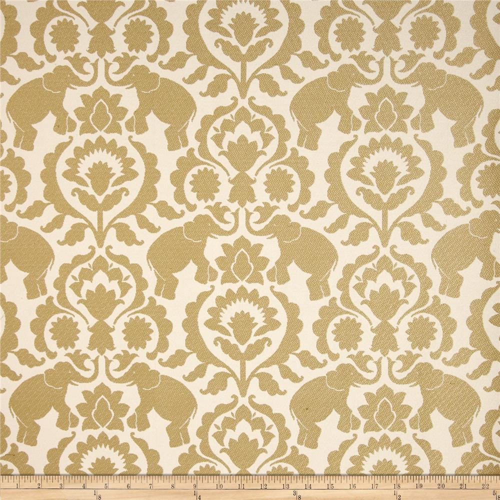 Covington babar elephants jacquard sand discount for Jacquard fabric