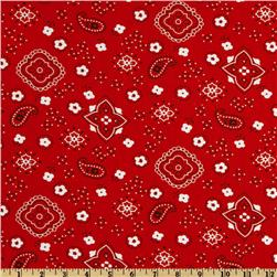 Bandana Prints Red Fabric