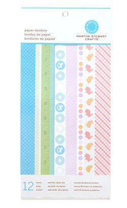 "Martha Stewart Crafts Paper Borders 6"" X 12"" Baby Girl/Boy"