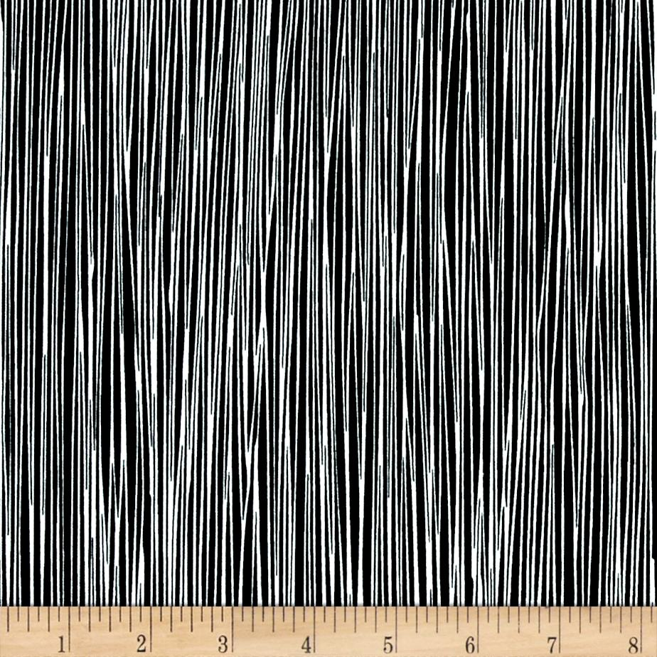 Moda Thicket Stripes Black/White