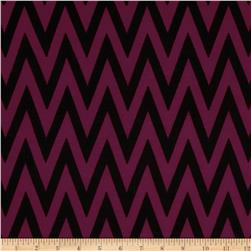 Fashionista Jersey Knit Chevron Magenta/Black