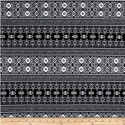 Ponte de Roma Knit Ikat Black/White