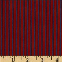 Graphix Stripes Orange Purple Fabric