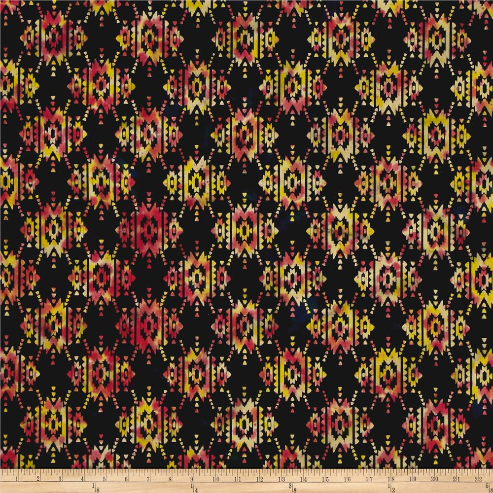 Indian Batik Sierra Nevada Southwest Black Multi