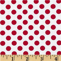 Kaufman Spot On Medium Dot Poppy Fabric