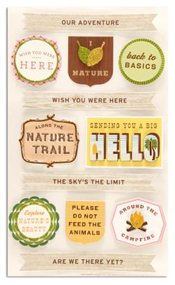 Martha Stewart Crafts Stickers Woodland Phrases