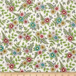 Maywood Studio Roam Sweet Home Wild Flowers White