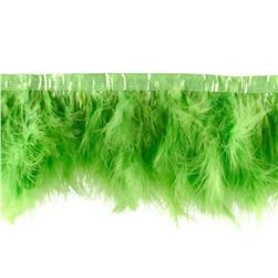 "8"" Feather Trim Lime Green"