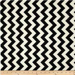 Riley Blake Le Creme Basics Chevron Black/Cream Fabric