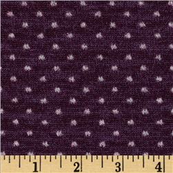 Amanda Stretch Sweater Knit Sparkle Dot Plum