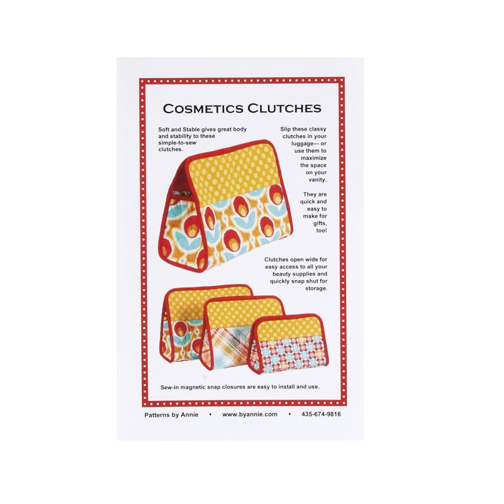 By Annie Cosmetic Clutches Pattern