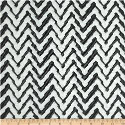 Embossed Ponte de Roma Chevron White/Black